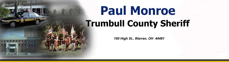 Heading introducing the Trumbull County Sheriff's Office with a photo of Sheriff Thomas Altiere.